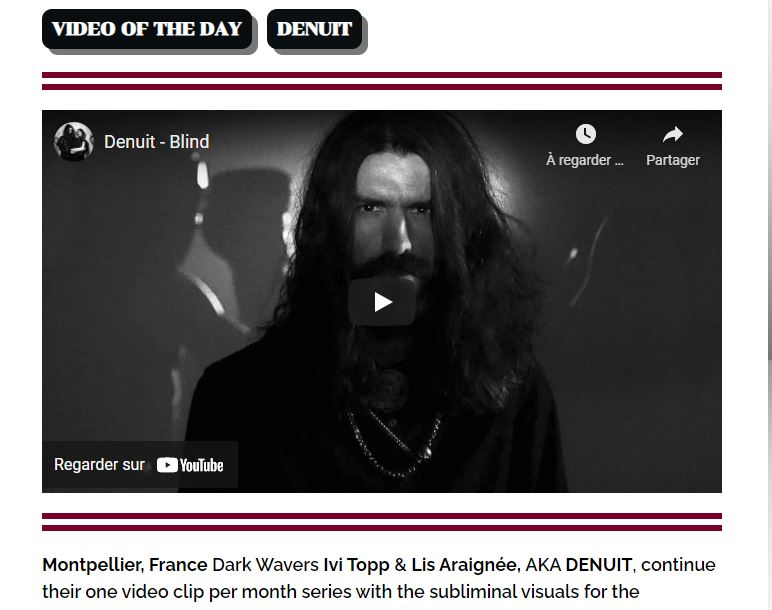 denuit blind video of the day