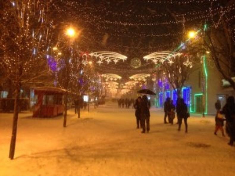 Pristina at night