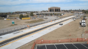 The Iliff Avenue Station, part of the future I-225 Rail Line, is still under construction. Image: RTD