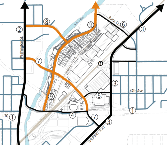 The orange lines represent new streets. Image: Community Planning and Development.