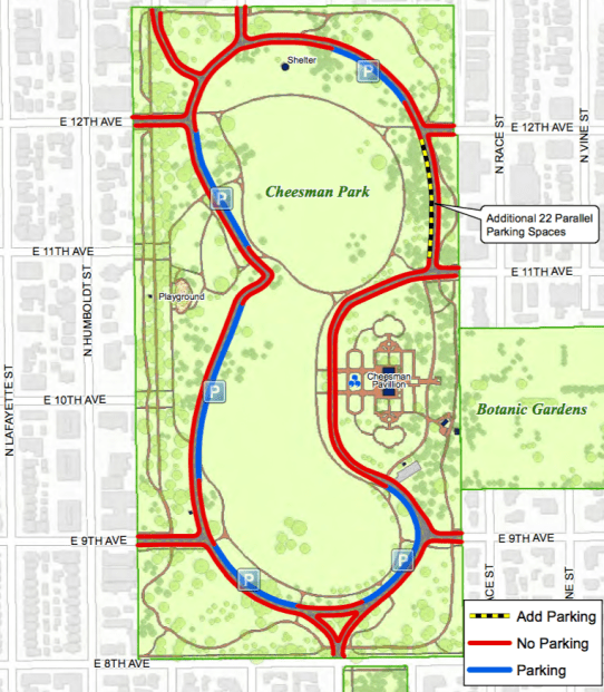Denver Parks And Recreation Puts Up A Parking Strip In