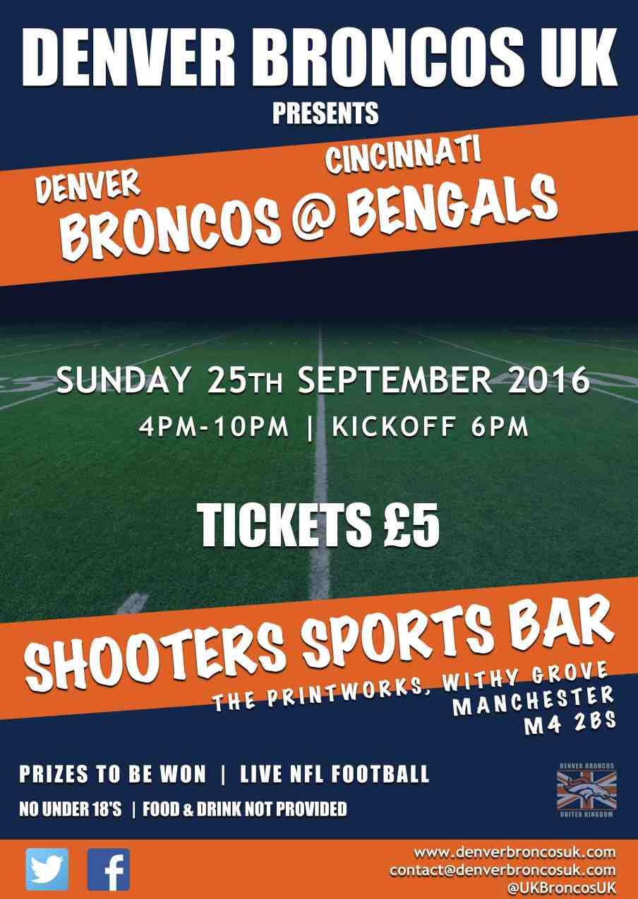 Denver Broncos UK Manchester Meet Up