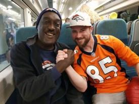 Wendell Barrow with a newly found Broncos buddy!