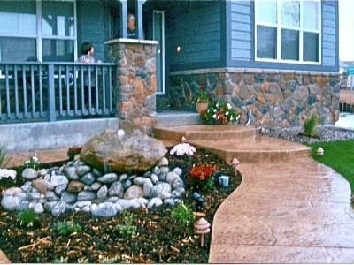 Custom Water Features add beauty to any Denver home