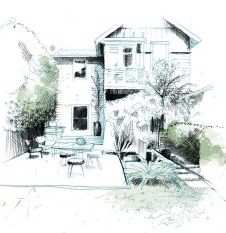 Denver Landscaping Design Contractor with hand drawn elegance