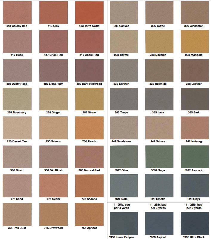 Concrete Colors Stamped Patios Slab