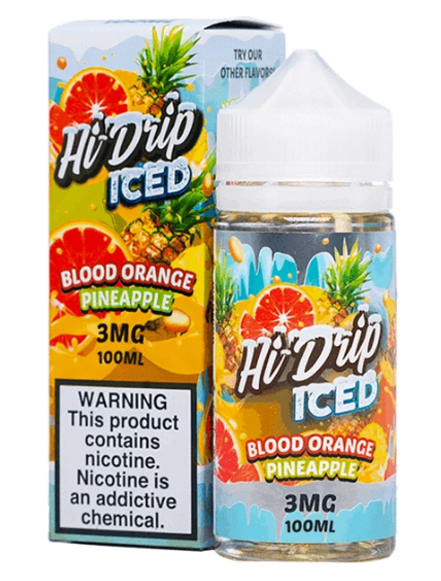 Sameday Delivery | Hi-Drip Blood Orange Pineapple Ice 100ml- ONLINE VAPESTORE