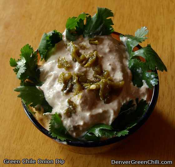 Onion Green Chili Dip