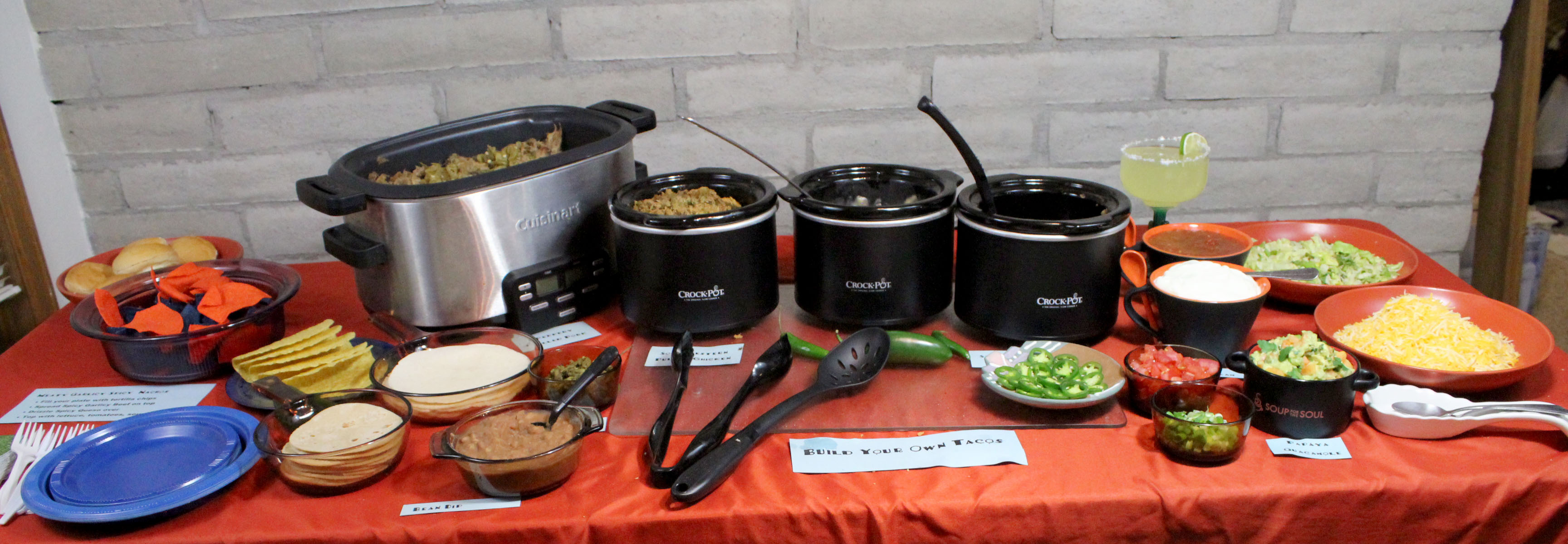 Set up a Taco Bar for a Winning Super Bowl Party   Denver Green Chili