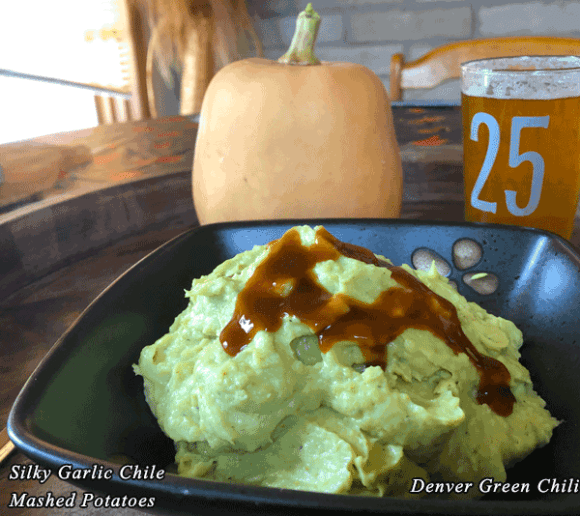Silky Garlic Chile Mashed Potatoes