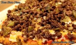 Taco Naan Pizza