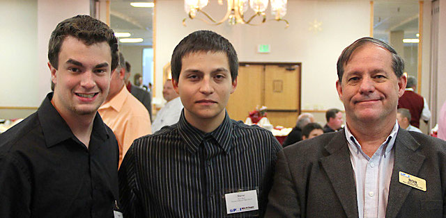 Two Students with Mentor Bob Kois