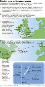 Map Of The Titanic : titanic, Titanic's, Maiden, Final, Voyage, Denver