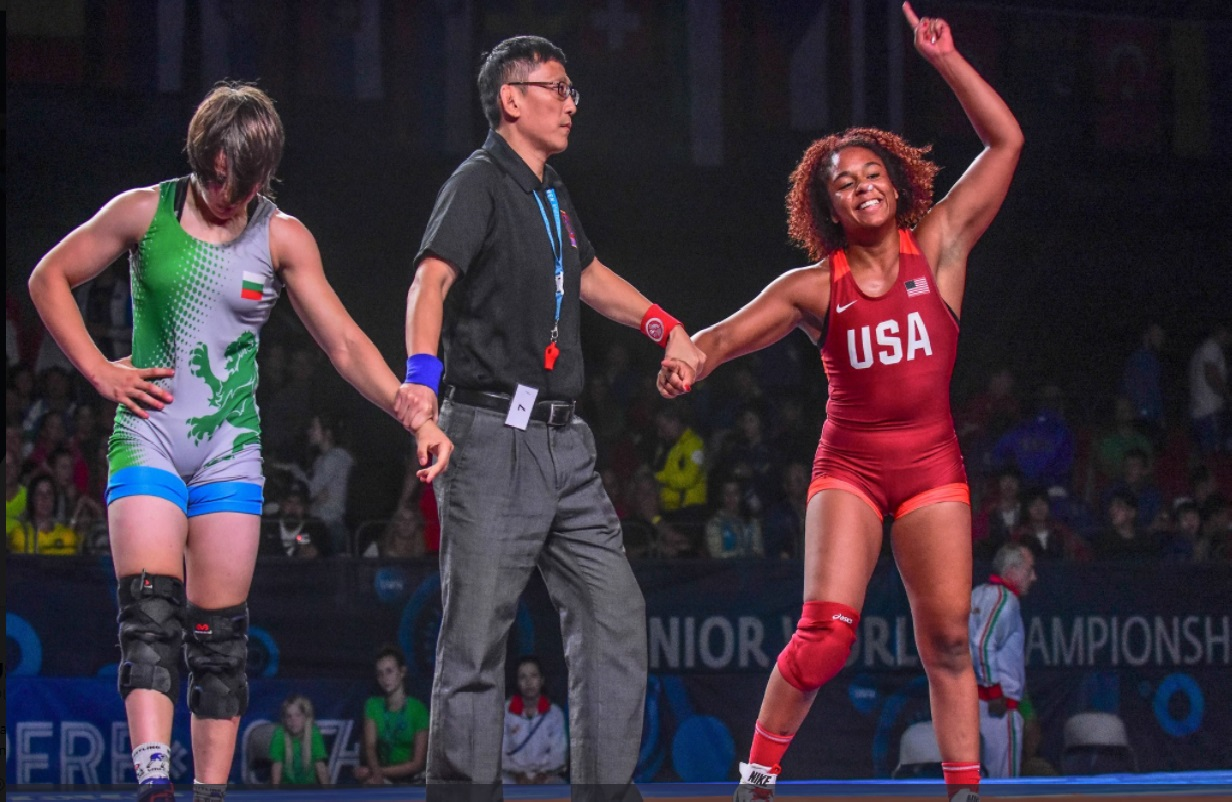 Wrestling Resume Maya Nelson S Intent On Earning Olympic Wrestling Title After