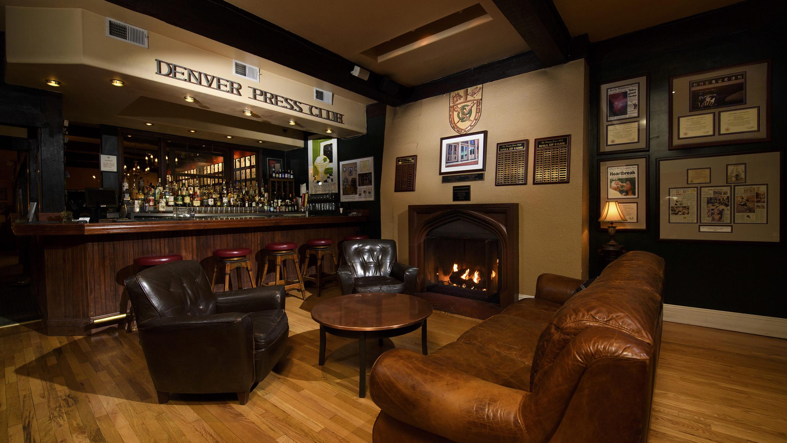 Inside the Denver Press Club lounge