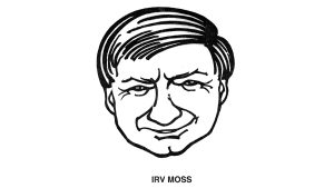 Irv Moss's caricature