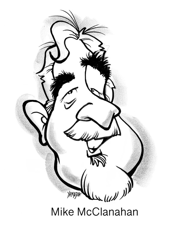 Mike McClanahan caricature