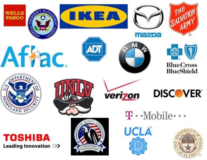 Logos of companies I've trained