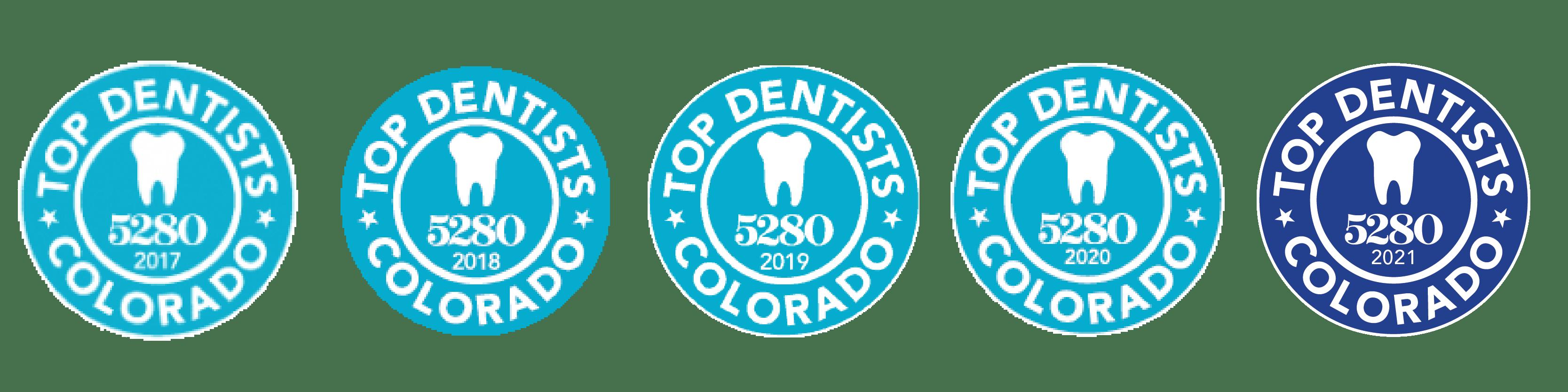 5280 Top Dentist Logos