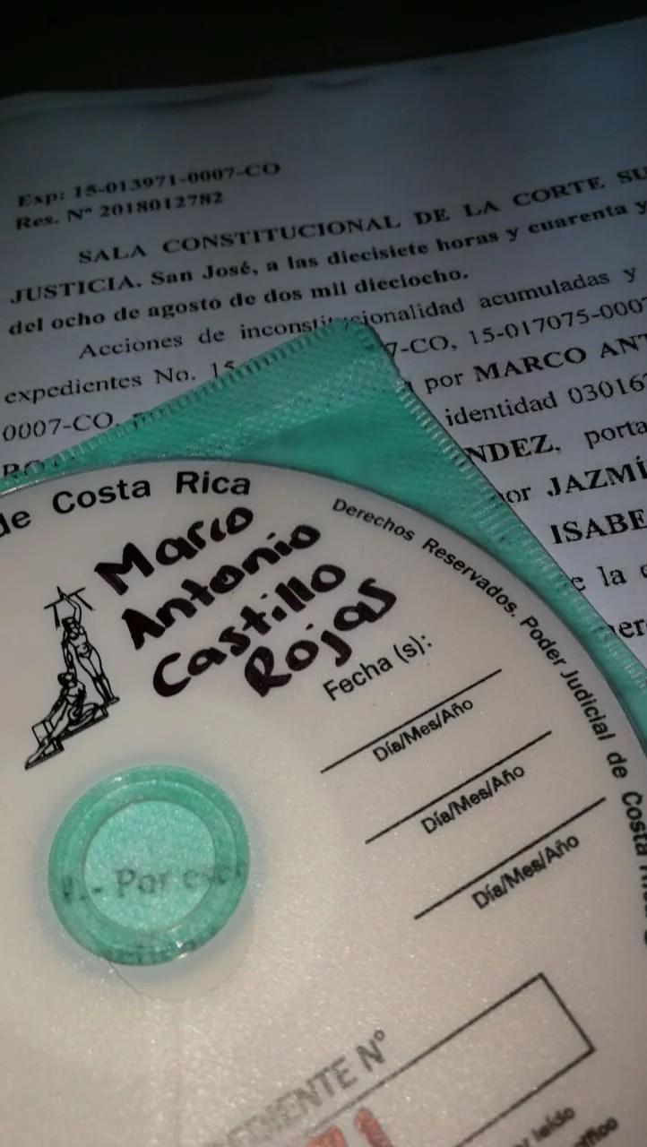 SALA CONSTITUCIONAL NOTIFICA SENTENCIA SOBRE MATRIMONIO GAY