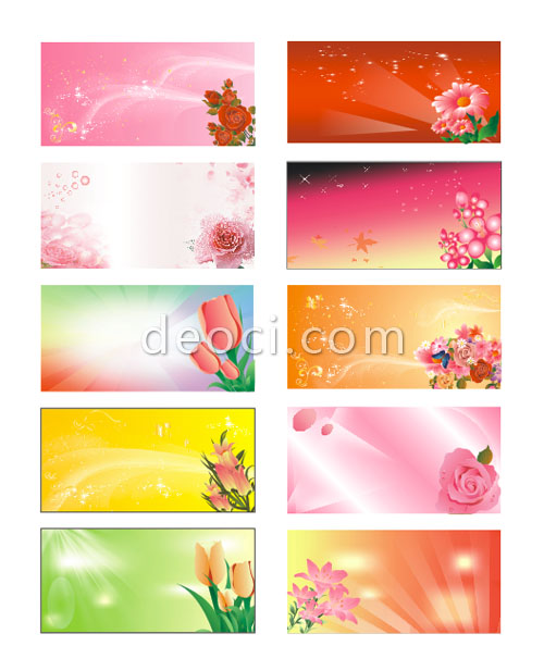 Download Template Cdr : download, template, Vector, Flowers, Advertising, Panels, Background, CorelDraw, Design, Templates, Files, Download, DEOCI.com