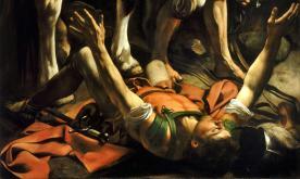 La Conversion de saint Paul sur le chemin de Damas, Le Caravage, 1604.