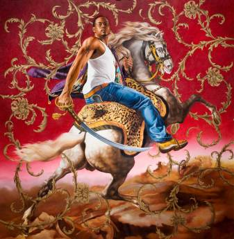 Kehinde Wiley, Officer Of The Hussars, 2007.