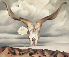 Georgia O'Keeffe, Ram's Head, White Hollyhock-Hills, 1935.