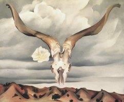 Georgia O'Keeffe, Ram's Head, White Hollyhock-Hills, 1935.