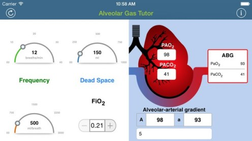 Alveolar Gas Tutor - iPhone App