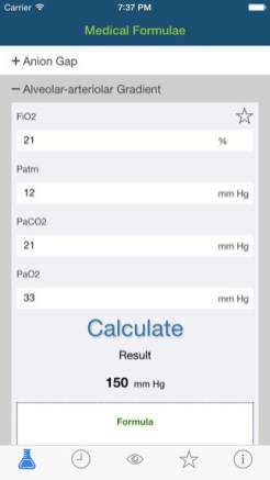 Medical Formulae - iPhone App(2)