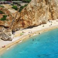 panorama plaja Porto Katsiki din Lefkada, Grecia
