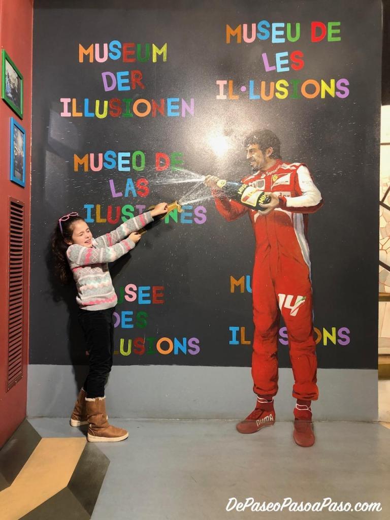 festejo GP F1 museo de ilusiones Barcelona