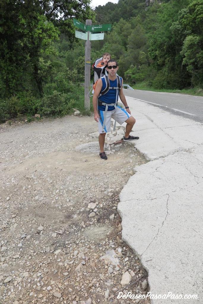 desnivel al ingresar a donde comienza la ruta hacia gorgs de la Febró