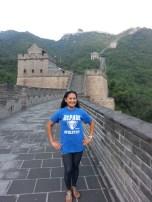 Miriam Manahan (MBA '08, BUS MS '09, MS '10) at the Great Wall of China.