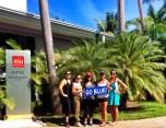 Gabby Quintana (CMN '09), Holly Ortiz (EDU '07, MED '09), Jillian Ruiz (EDU '13), Jessica Ruiz (LAS '07) and Valerie Ruiz (CMN '09) in Montego Bay, Jamaica.