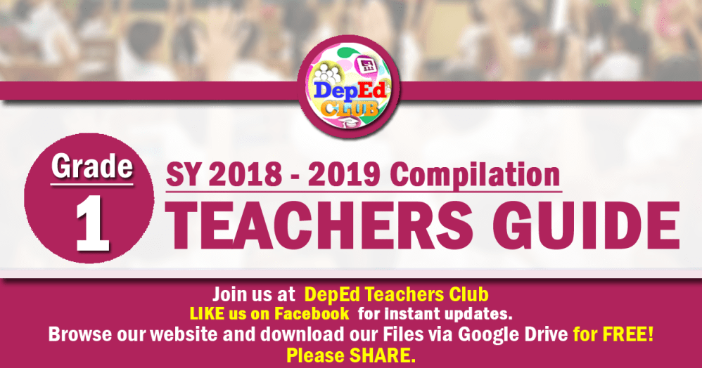 medium resolution of GRADE 1 Teachers Guide (TG) - The Deped Teachers Club