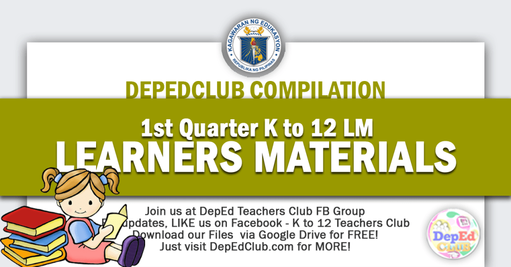 medium resolution of Update! 1st Quarter - K-12 Learners Materials (LM)   DepEd Club