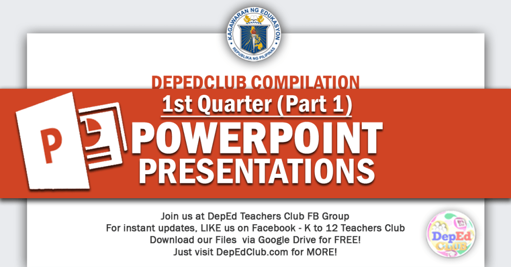 medium resolution of 1st Quarter Powerpoint Presentations Compilation   DepEd Club