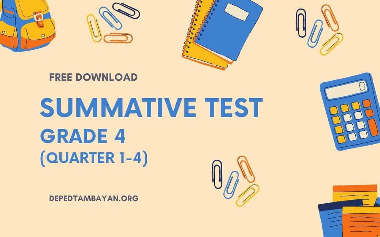 hight resolution of GRADE 4 - Summative Tests
