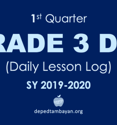 1st Quarter GRADE 3 DLL - Daily Lesson Log   SY 2019 - 2020 [ 720 x 1280 Pixel ]