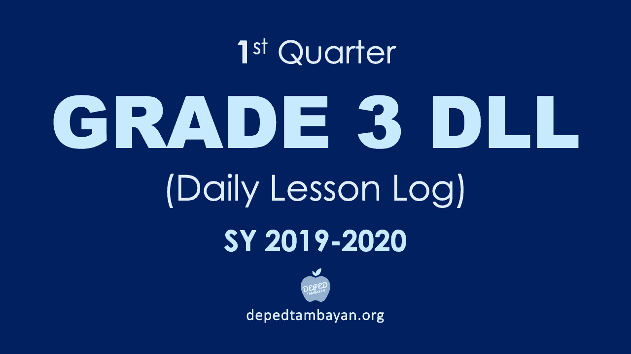 hight resolution of 1st Quarter GRADE 3 DLL - Daily Lesson Log   SY 2019 - 2020