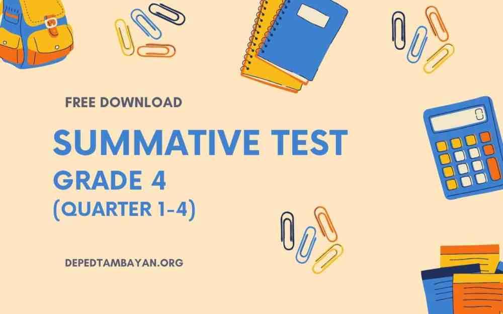 medium resolution of GRADE 4 - Summative Tests
