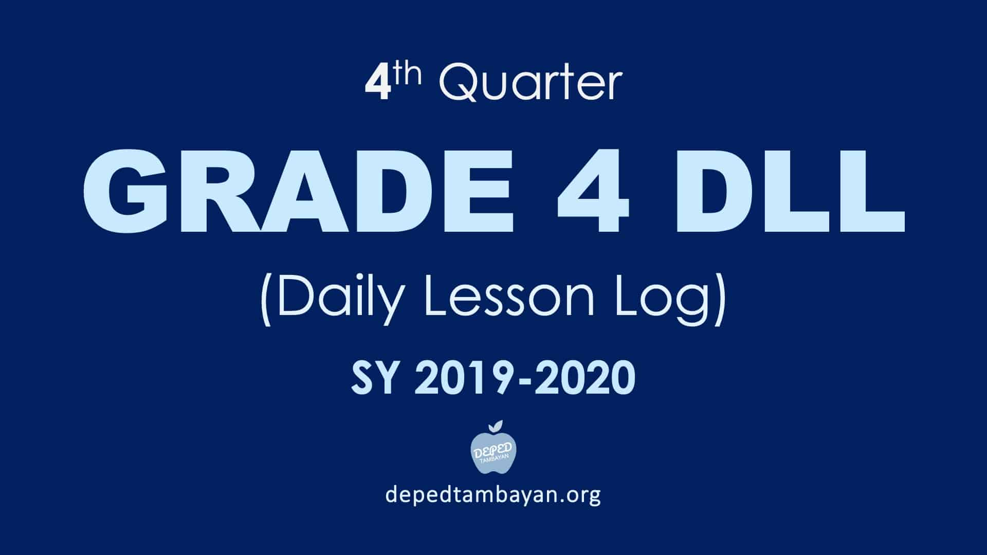 hight resolution of 4th Quarter GRADE 4 DLL – Daily Lesson Log   SY 2019 – 2020