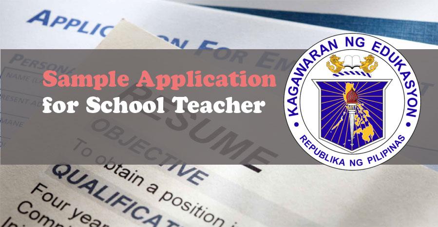 Sample Application Letter Resume CV for Teachers  DEPED