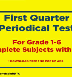 1st Quarter Deped Periodical Test Grades 1-6 All Subjects - Deped Teachers  Club [ 629 x 1280 Pixel ]
