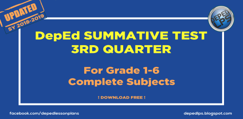 small resolution of DepEd SUMMATIVE TEST 3RD QUARTER GRADE 1-6 All Subjects SY 2018-2019 -  Deped Teachers Club