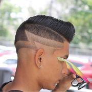 peinados lneas rayas para