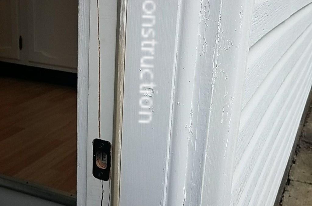 Bad door jamb