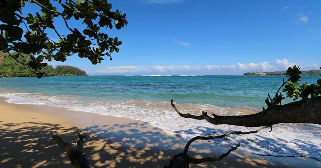 Hanalei Bay Beach, Kauai, HI